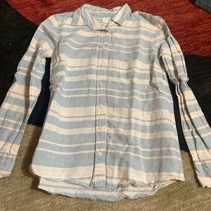 J. Crew EUC Striped Button Down Blouse